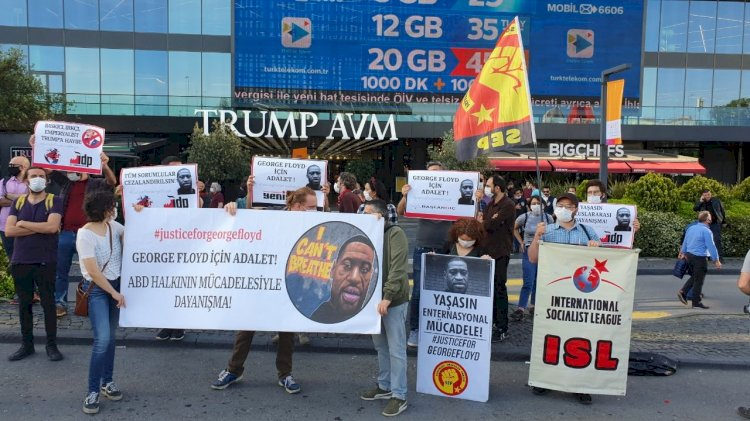 George Floyd Solidarity Protest in Istanbul