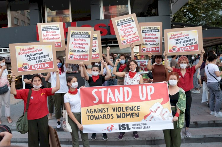 Stand Up Against Violence Towards Women: ISL Campaing for Solidarity with Women in Turkey